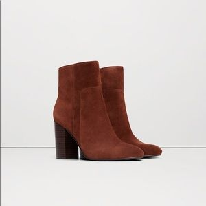 Mango Real Leather Ankle Boots